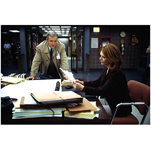 Eames Desk Unit (Law & Order Criminal Intent Captain Deakins talking to Eames seated at desk 8 x 10 Inch Photo)