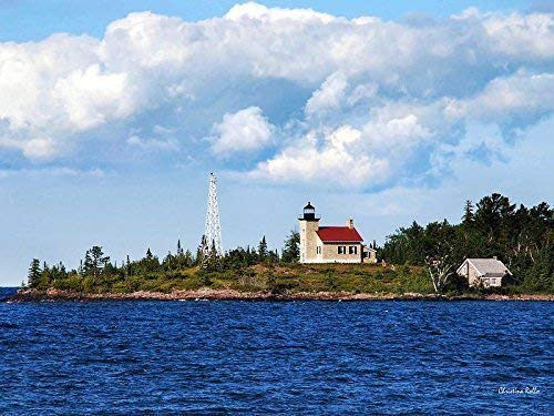 Copper Harbor Lighthouse Print, Lake Superior Michigan Wall Art Decor, Keweenaw Peninsula Landscape Photo Fort Wilkins Historic State Park