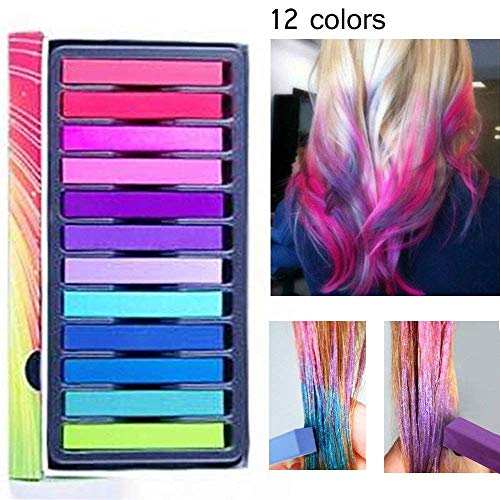 Hair Chalk,Temporary Hair Chalk Pens,Washable Hair Color,Non-toxic Washable Hair Dye,Washes Out Easily With No Mess,for Kids Hair Dyeing Party,Birthday Gifts For Girls