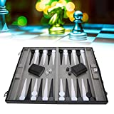 PU Leather Alloy Chess Storage Box,Portable 5pcs