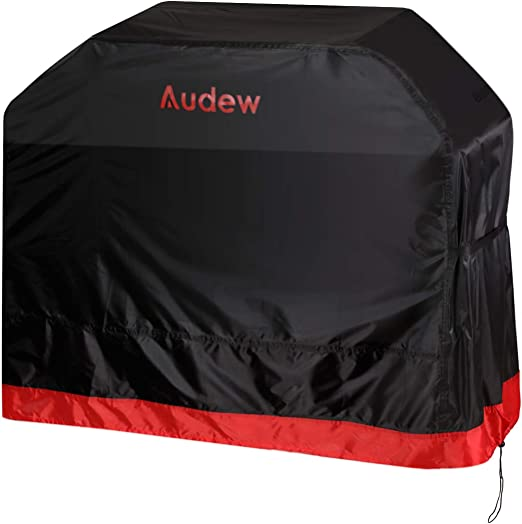 Amazon.com: Audew Grill Cover,64-inch 210D Oxford BBQ Cover for All Weather Protections, Waterproof/UV and Fade Resistant/Dust-proof/Rip-proof, Fits Most Brands Weber, Char Broil, Holland, Jenn Air, Brinkmann: Kitchen & Dining