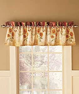 Amazon Com Sunflower Window Valance Home Amp Kitchen