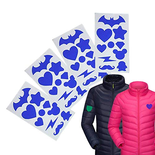 Formemory Down Jacket Tenacious Fabric Repair Patches, First Aid Self-adhesive Nylon for Jackets(4Pack) (Blue) - Nylon Down Jacket