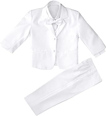 a9a3c666e6d7 Amazon.com  Toddler and Infants Boys White Tuxedo with No Tail ...