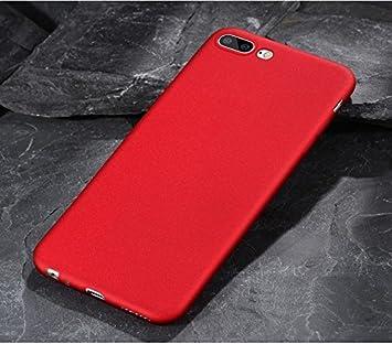 Baanuse Oneplus 5 Funda, [Ultra Slim Soft TPU] [Sand Scrub Non-slip] [Shockproof Armor] Carcasa para Oneplus 5 Rojo