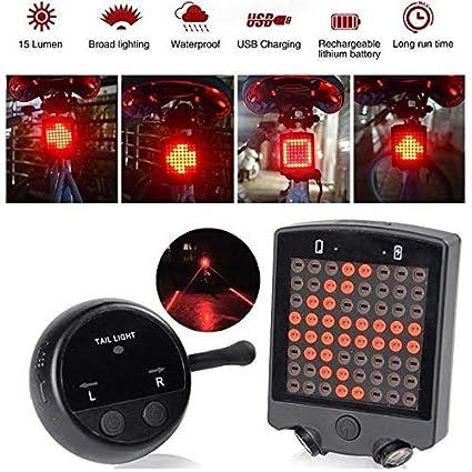 UDee Remote Control Wireless Bike Bicycle Laser LED Tail Lamp Turn Signal Light 64LED
