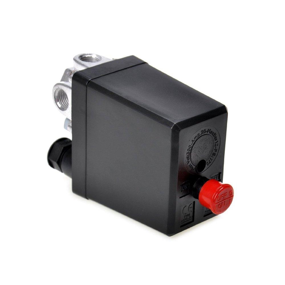 Vá lvula de control del Presostato de compresor de aire Heavy Duty Negro 1pc Rocita