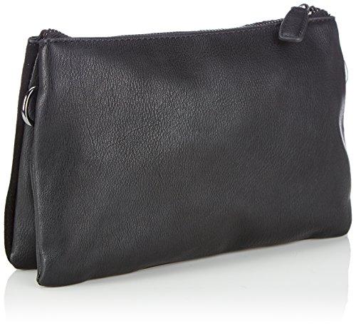 GERRY WEBER Girona Clutch - Bolso de mano de cuero mujer negro - negro (black 900)