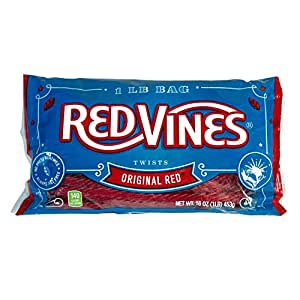 Red Vines Original Red  Licorice Twists 16 Oz Bag (Pack of 12)