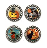 Vintage Halloween Bottle Cap Magnets