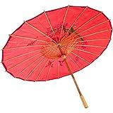 JapanBargain Oriental Parasol, Red
