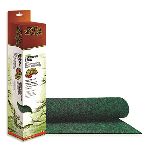 Zilla Reptile Terrarium Bedding Substrate Liner, Green, 125G by Zilla