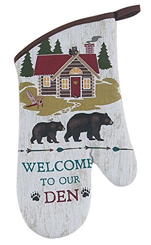 4 Piece Welcome to Our Den Kitchen Linen Set - 2 Terry Towels, Oven Mitt, Potholder by Kay Dee (Image #3)