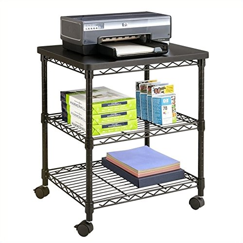 Safco Products Deskside Wire Machine Stand 5207BL, Holds up to 200 lbs.