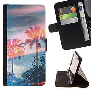 Momo Phone Case / Flip Funda de Cuero Case Cover - Árboles Magia Cielo Verano - LG G2 D800
