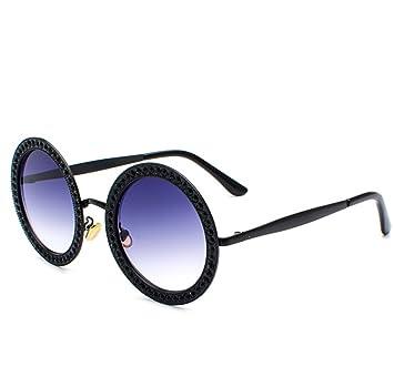 QQBL Ronda Diamante Moda Océano Rebanada Multicolor Gafas Pc Metal UV400 Hombres Y Mujeres Gafas De