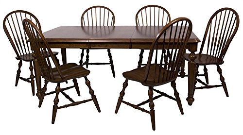 Sunset Trading 7-Pc Butterfly Leaf Dining Set in Distressed Chestnut ()
