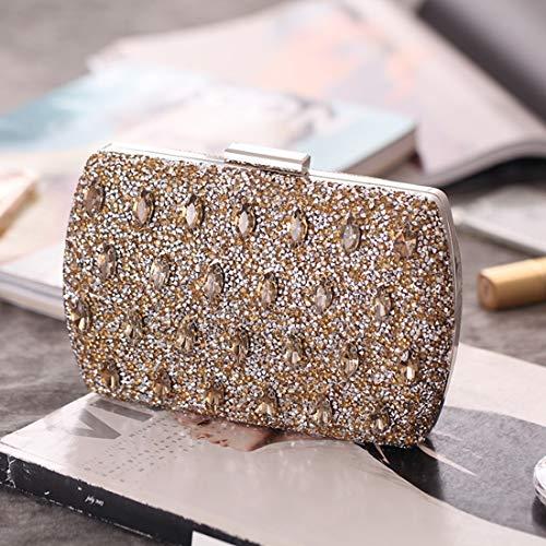 Gold Bag Banquet Evening Main de Diamond Sac Silver KERVINZHANG à d'embrayage Sac Color Femme à Main pour waFEgHq
