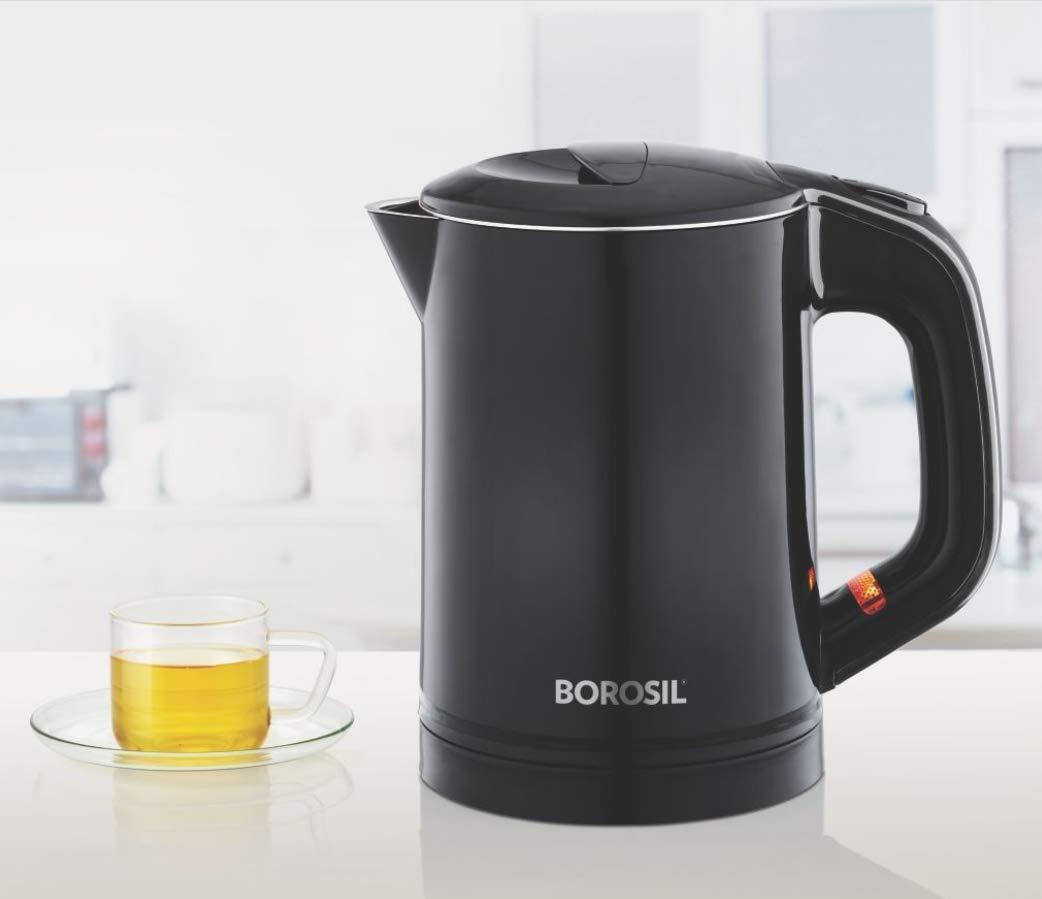 Borosil EVA Cool Touch Stainless Steel Travel Kettle