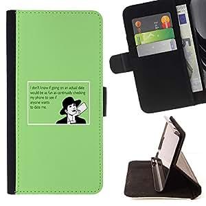 Momo Phone Case / Flip Funda de Cuero Case Cover - Consejos para los usuarios Cita divertida Amor Online - Sony Xperia Style T3