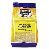 """Now Foods, Double """"00"""" Gelatin Caps 750 Empty Capsules"""