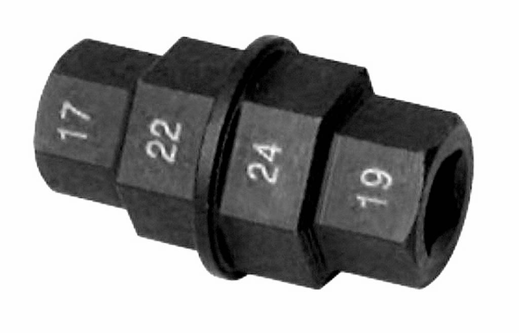 Outil 4 hexagones remplacement roue embrayage avant 17-19-22-24mm BUZZETTI 19596