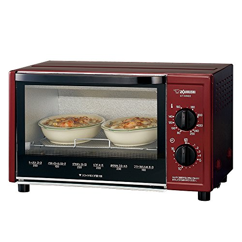 "Zojirushi toaster oven ""browned Club"" Metallic Red ET-WM22-RM"