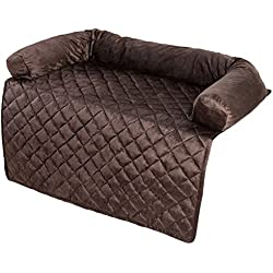 "PETMAKER Furniture Protector Pet Cover with Bolster - Brown - 35"" x 35"""