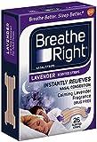 (104 Strips) NEW Breathe Right Nasal Strips : LAVENDER SCENTED Strips - Calming Lavender