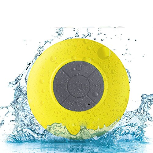 Buyit® Waterproof Wireless Bluetooth Shower Speaker Hands-free Speakerphone Compatible with All Bluetooth Devices