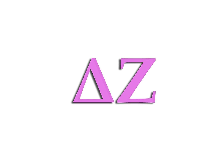 Officially Licensed Delta Zeta 6 x 3 Window Decal Pink