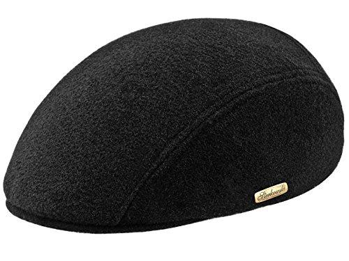 Sterkowski Warm Wool Blend Petersham Ivy League Flat Cap US 7 1/8 Black