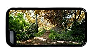 Funny iphone awesome cases The tree lined path in the park fresh air TPU Black for Apple iPhone 5C