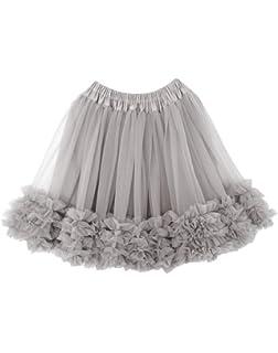 c44d67649 Niñas de capas de volantes Tulle ballet tutú falda 0-10T: Amazon.es ...