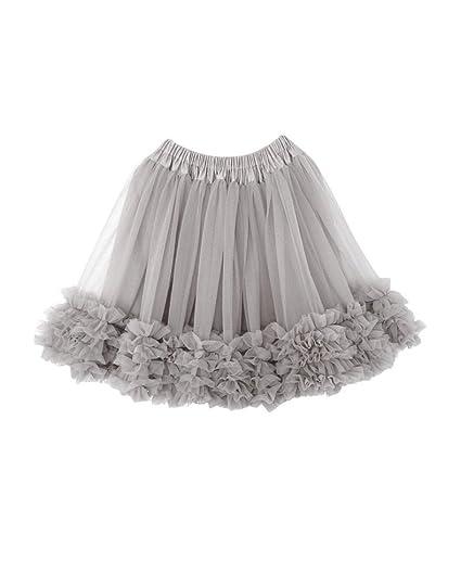 Elfin-Lore Gonna Tutu Bambina Principessa Estate Tulle Sottoveste Moda  Ragazza per Balletto Danza Costumi di Carnevale  Amazon.it  Abbigliamento 75a43fa3c79