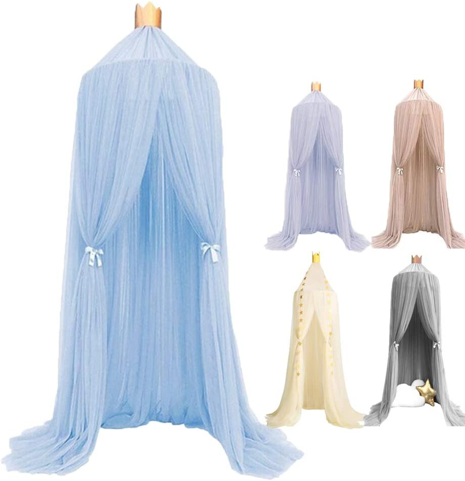 Dome Princess Bed Canopy Round Lace Mosquito Net Play Tent Hanging House Decoration Lace Netting Curtains Indoor Game House for Baby Kids