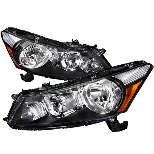 Jdm Crystal Black - Velocity Concepts For Accord 4Dr Sedan JDM Crystal Black Headlights Lamp