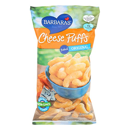 Barbaras Bakery Baked Original Cheese Puffs - Made with Non GMO Corn - Case of 12 - 5.5 -