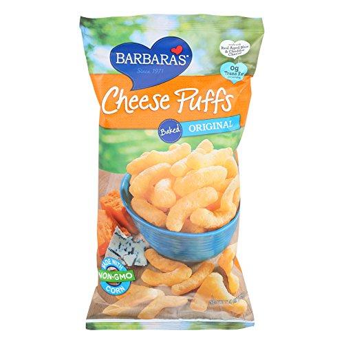 Barbaras Bakery Baked Original Cheese Puffs - Made with Non GMO Corn - Case of 12 - 5.5 oz.