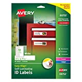 """Avery Professional Grade Self-Laminating Water Resistant ID Labels, 3-1/2"""" x 1-1/32"""", 50 Pack (00753)"""