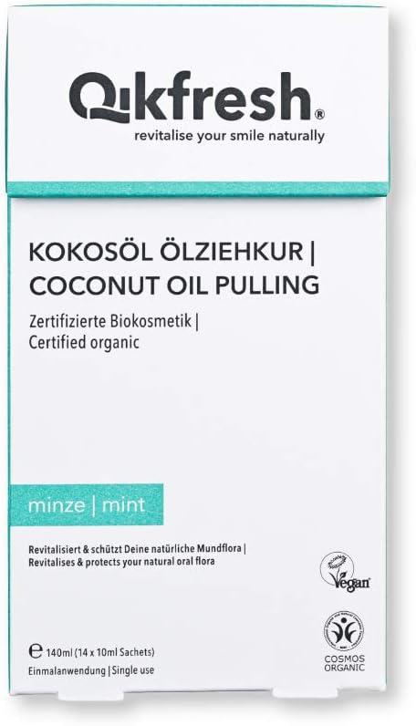 Qikfresh - Kokosöl Ölziehkur, 140ml (14 Sachets x 10 ml)