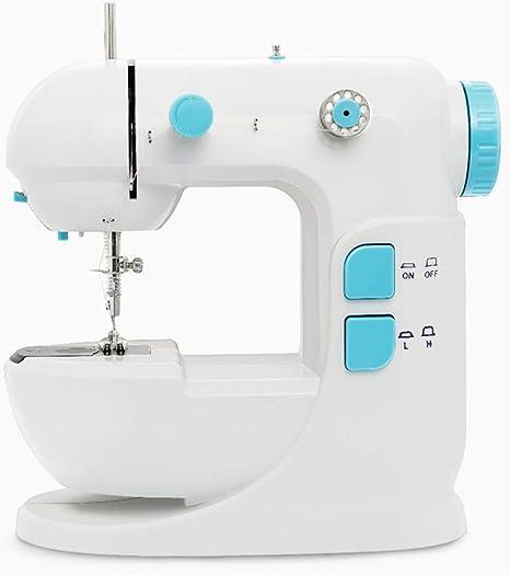Seeee.u - Máquina de coser pequeña y portátil, ligera, multifunción para uso doméstico, máquina de coser eléctrica, para principiantes con: Amazon.es: Hogar