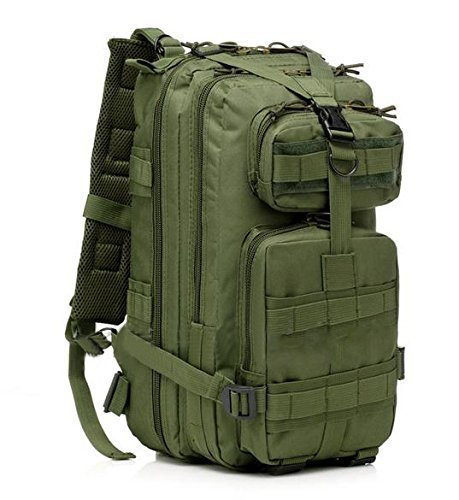 KLAREN Tactical Backpack Camping Bags Waterproof Molle System Backpack Military 3P Tad Assault Travel Bag Green