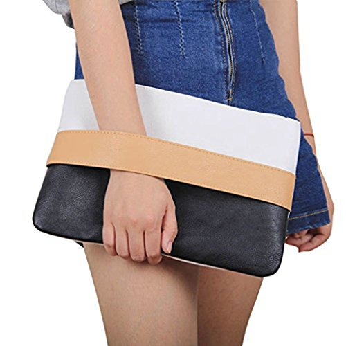 Unique Patchwork Design Women's Clutch Handbag Wristlets for Beach Holiday Travel