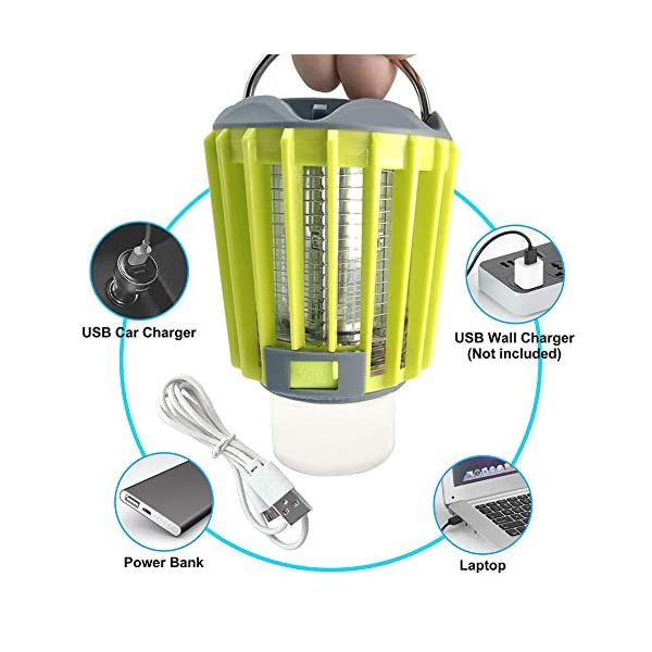Anordsem 3 in 1 Lanterna da Campeggio Lampada Antizanzara Torcia Impermeabile IP67 con USB ed Energia Solare… 6 spesavip