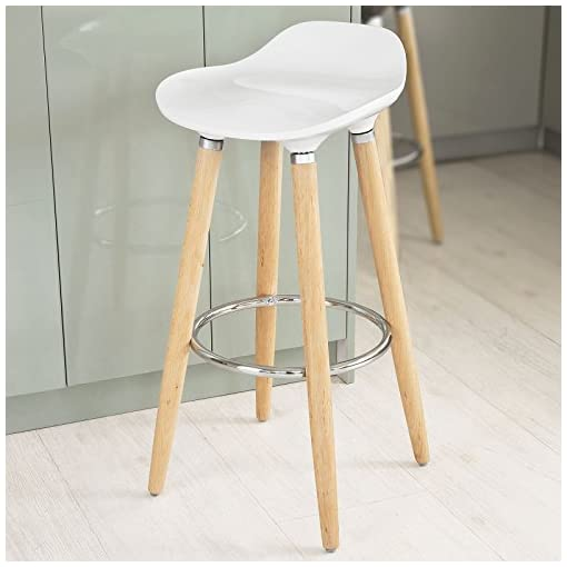 SoBuy-Taburete-de-bar-con-patas-de-madera-de-haya-natural-asiento-en-color-Blanco-FST34-W-ES