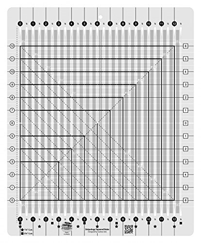 Creative Grids Stripology Squared Quilting Ruler Template CGRGE2 by Creative Grids
