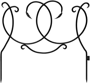 Achla Designs Wrought Iron Decorative Scroll Border Fence Section