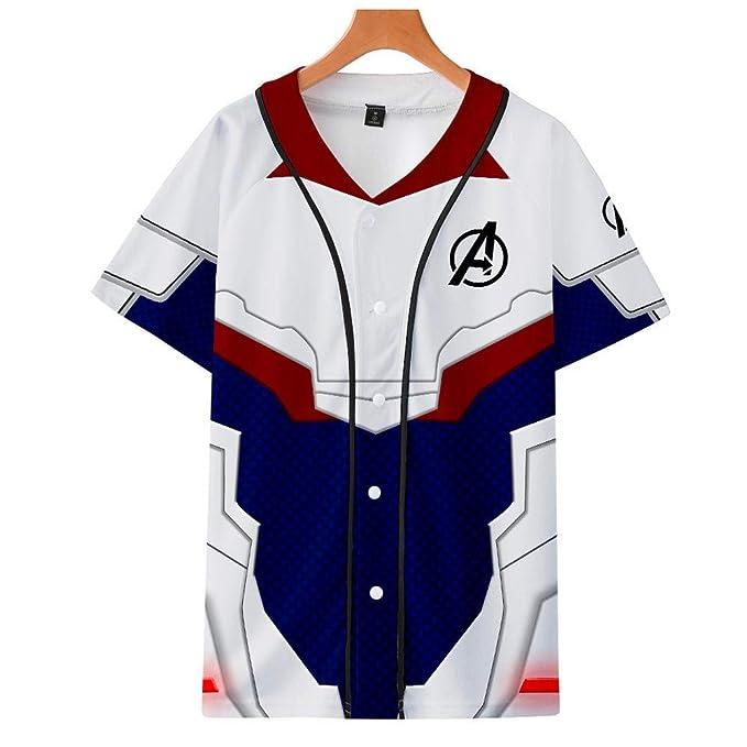 Arthur-Apparel Camiseta De Uniforme De Béisbol Avengers 4 ...