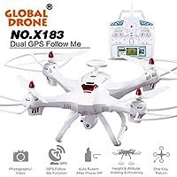 SUKEQ 6-axes X183 2MP WiFi FPV HD Camera RC Quadcopter Drone (White)
